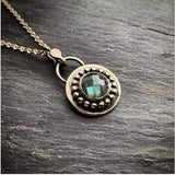 Beaded and Faceted Labradorite Pendant