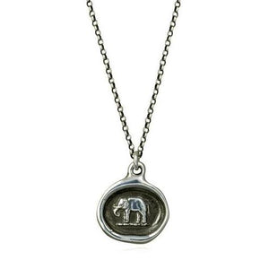 Good Luck, Wax Seal Necklace of Elephant