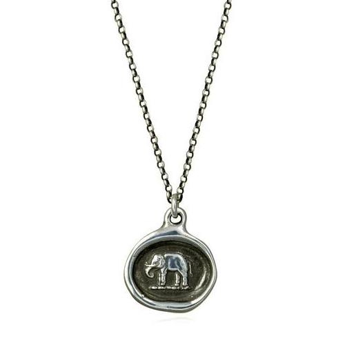 Good Luck, Wax Seal Necklace of Elephant - The Whole 9 Gallery