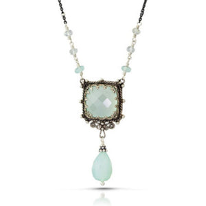 Chalcedony Window Necklace