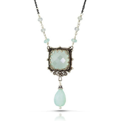 Chalcedony Window Necklace - The Whole 9 Gallery