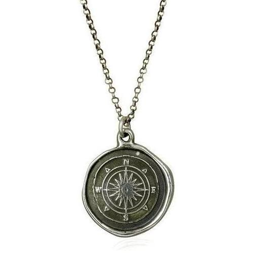 Compass Rose, Wax Seal Necklace - The Whole 9 Gallery