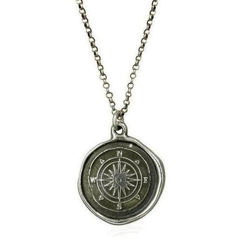 Compass, Wax Seal Necklace
