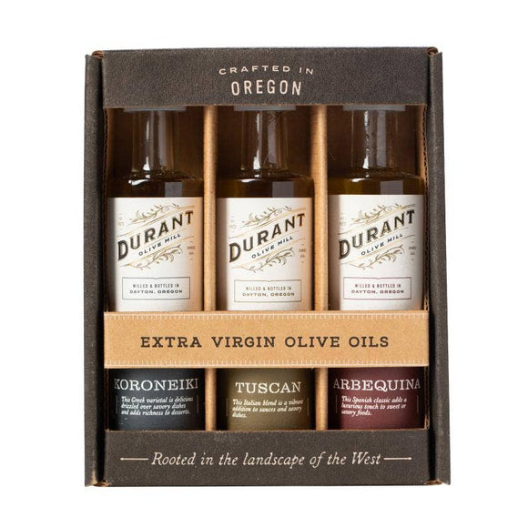 Trio of Extra Virgin Olive Oils by Durant