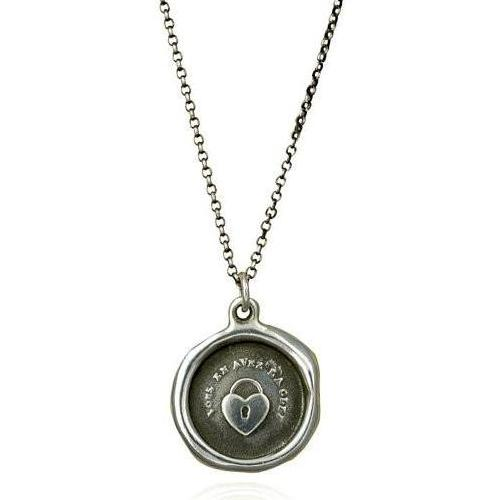 Key to my Heart, Wax Seal Necklace of Heart Padlock