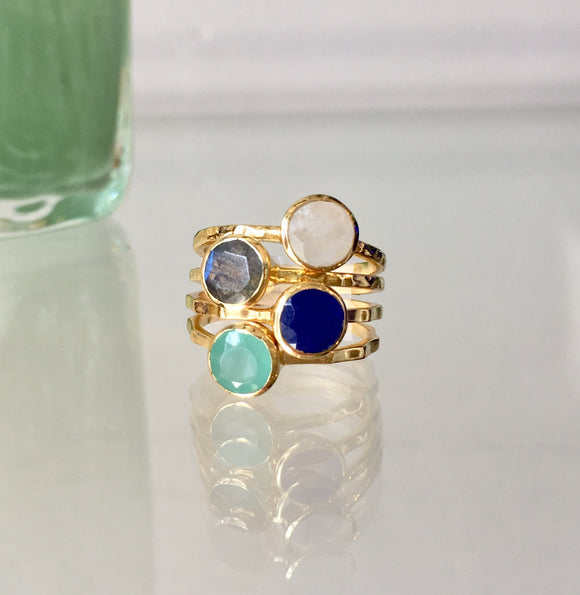 Gold Stacking Ring SetAmata Jewelry - The Whole 9 Gallery