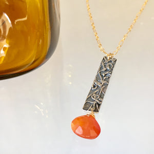 En Route Necklace with Carnelian