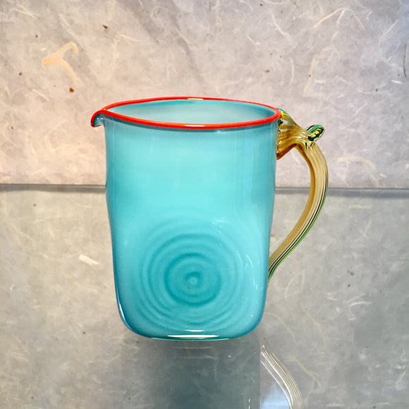 Aquamarine Medium Seaside Pitcher - The Whole 9 Gallery