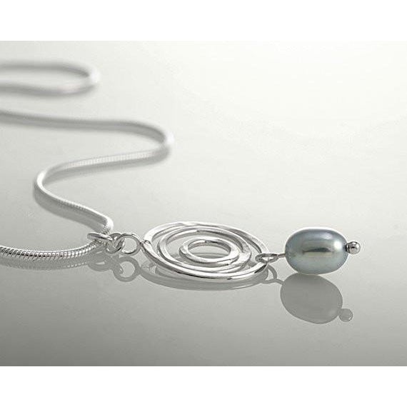 Infinity Circle Pearl Necklace - The Whole 9 Gallery