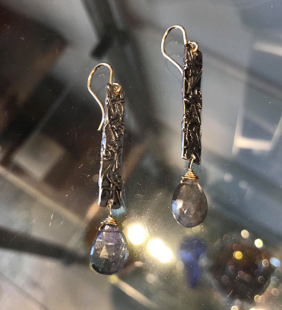 En Route Earrings with Labradorite - The Whole 9 Gallery
