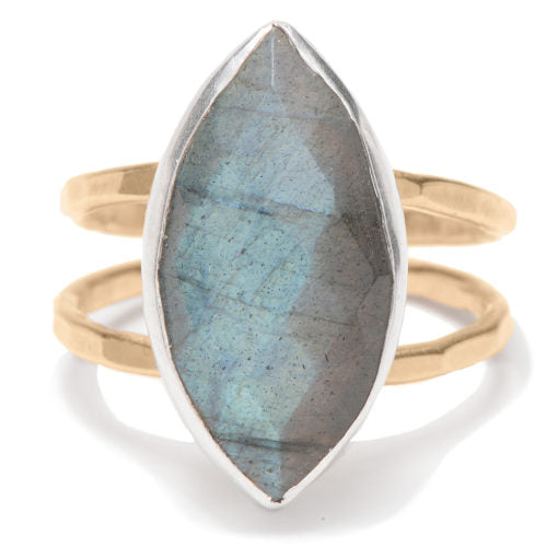 Labradorite Marquis Ringj + i Jewelry - The Whole 9 Gallery