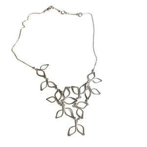 Silver Anthos Bib Necklace