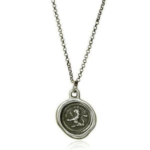 I Rise, Wax Seal Necklace of Lion
