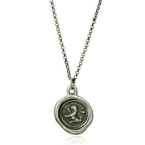 I Rise, Wax Seal Necklace of Lion - The Whole 9 Gallery