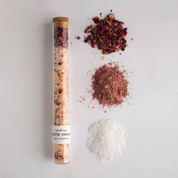 Rose & Sandalwood Bath Salts by Nectar Republic
