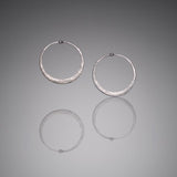 Hammered Sterling Silver Hoops, Large