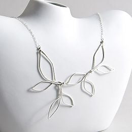 Silver Olive Leaf Necklace - The Whole 9 Gallery