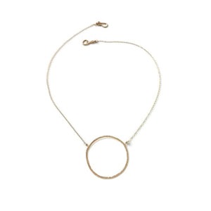 Elafri Circle Necklace in Gold