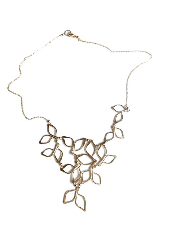 Gold Anthos Bib Necklace
