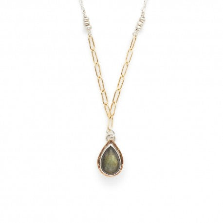 Labradorite Teardop Necklace
