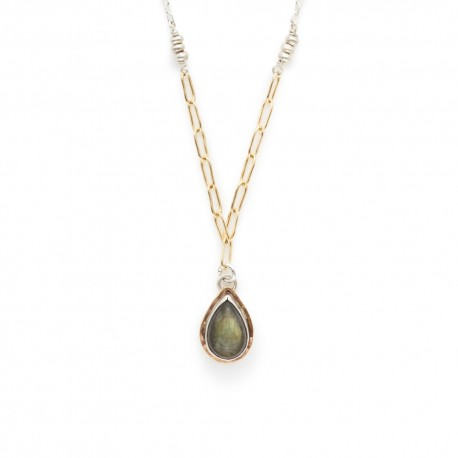 Labradorite Teardop Necklacej + i Jewelry - The Whole 9 Gallery