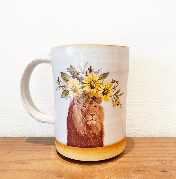 Lion Mug by Crazy Cat Lady Ceramics