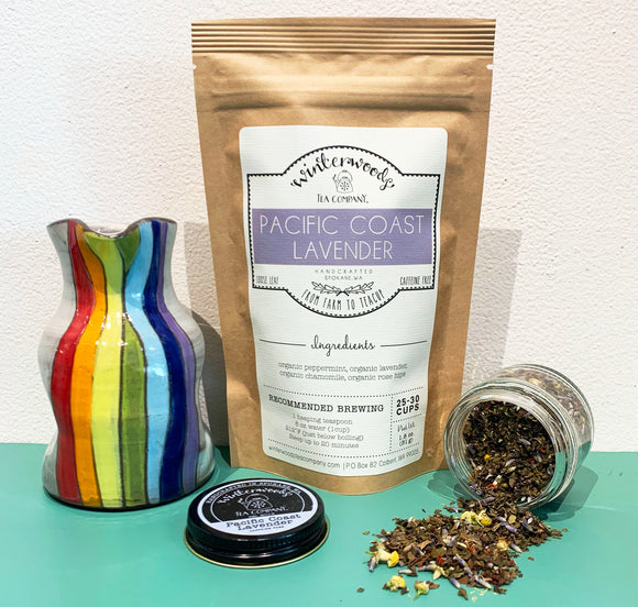 Pacific Coast Lavender Loose Leaf Tea from Winterwoods Tea Company