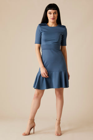OLESYA COTTON BLEND DRESS