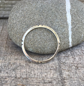 Four Directions Stacking Ring || Sterling Silver