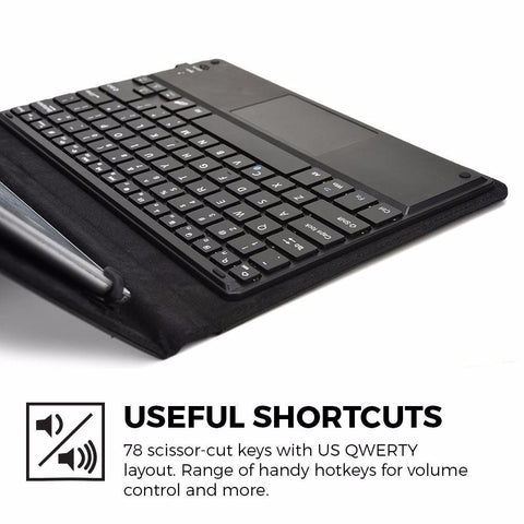 Wireless Bluetooth Keyboard with Touchpad for Phone and Tablet Compatible  in iOS, Android and Windows