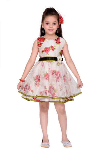 White & Red Floral Sam de Fleur Dress