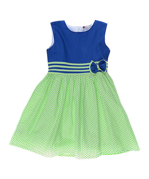 Blue & Green Fit & Flare Dress