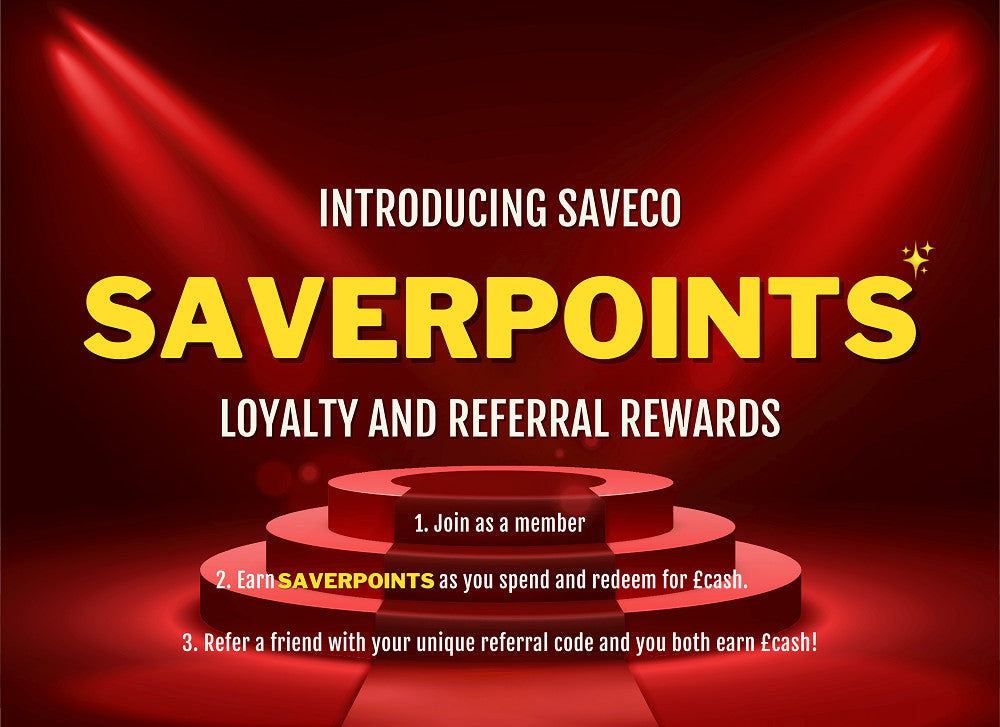 SaveCo SaverPoints rewards - only at SaveCo Online