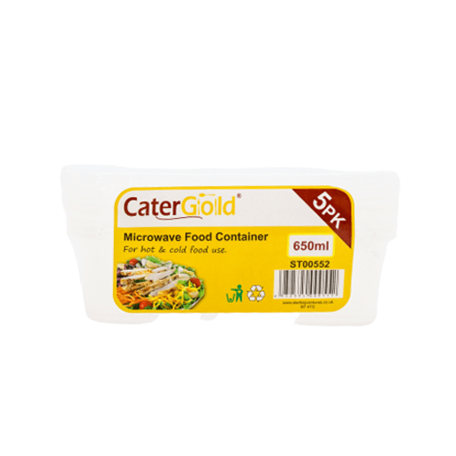 Cater Gold microwave food containers SaveCo Bradford