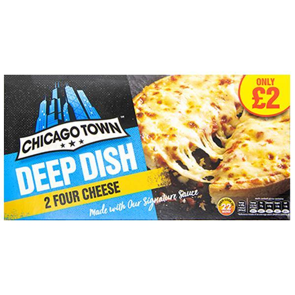 Chicago Town Deep Dish Four Cheese 2pc - SaveCo Online Ltd