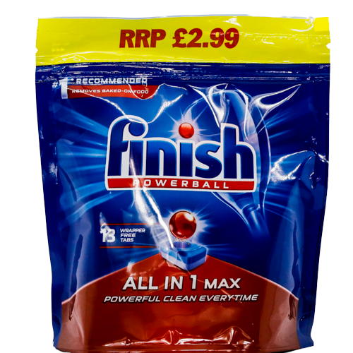 Finish Powerball all-in-1 max dishwasher tablets - SaveCo Cash & Carry