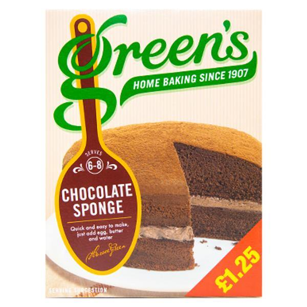 Greens Chocolate Sponge Mix 221g