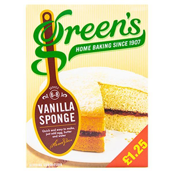 Greens Vanilla Sponge Mix 221g