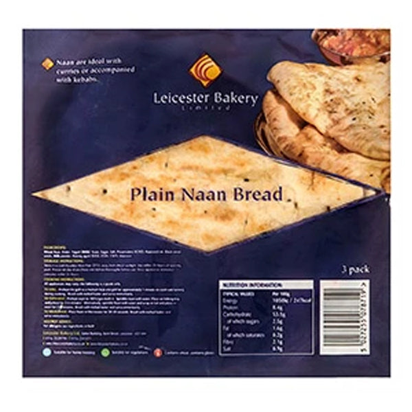 Leicester Bakery Plain Naan Bread @SaveCo Online Ltd