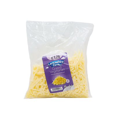 Lancashire Farm vegetarian grated cheese - SaveCo Cash & Carry