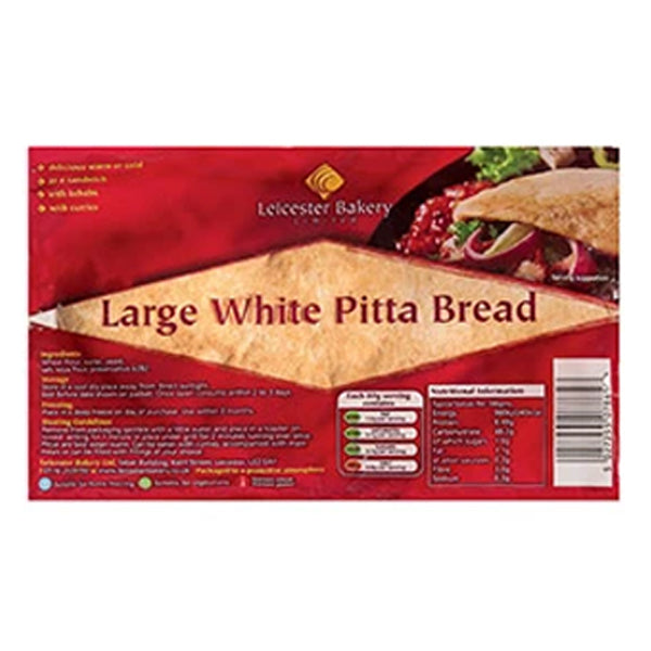 Leicester Bakery white pitta bread - SaveCo Cash & Carry