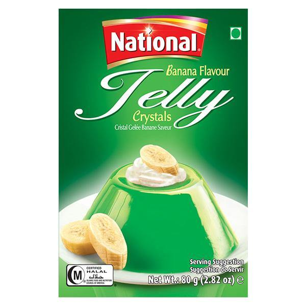 National Jelly Banana Flavour 80g - SaveCo Online Ltd