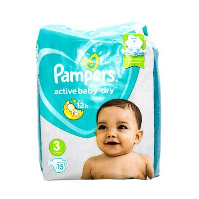 Pampers active baby dry size 3 - 15pck SaveCo Bradford