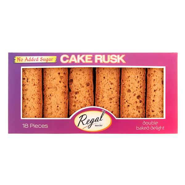 Regal No Added Sugar Cake Rusk 18 Pieces