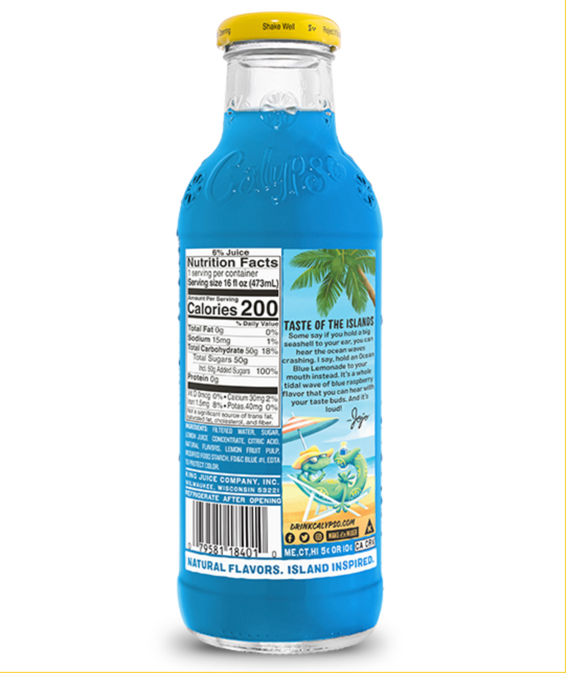 Calypso ocean blue lemonade SaveCo Online Ltd