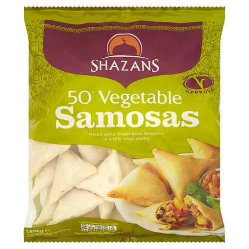 Shazan 50 Vegetable Samosas SaveCo Bradford