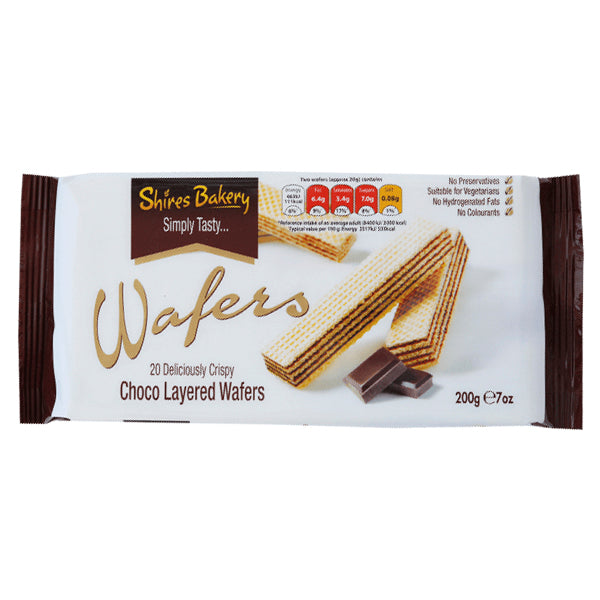 Shires Bakery Simply Tasty Choco Wafers