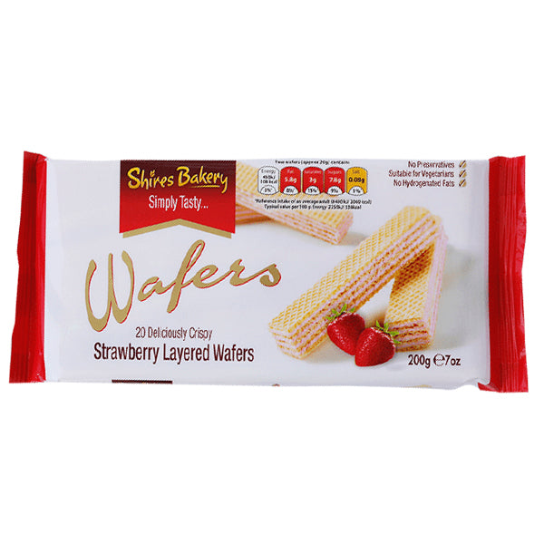 Shires Bakery Strawberry Wafers