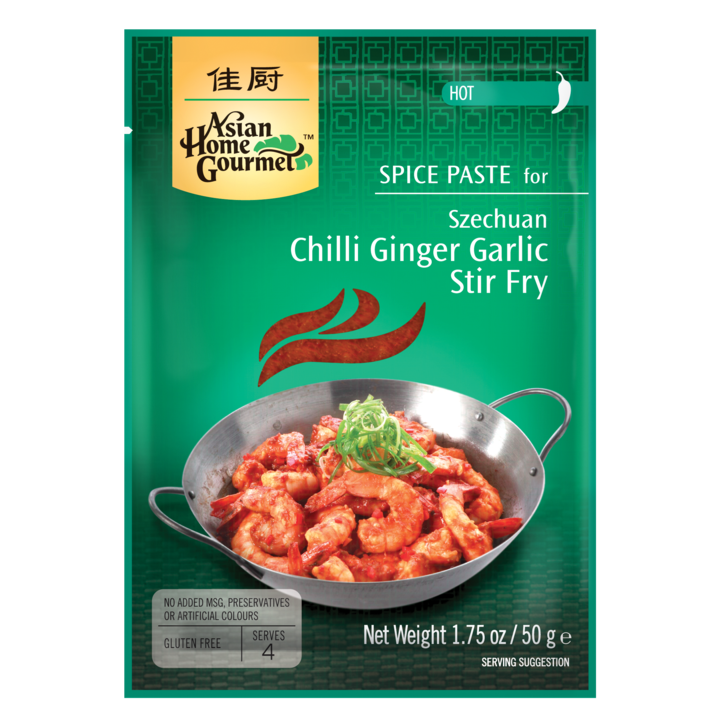 Asian Home Gourmet Szechuan chilli, ginger & garlic stir-fry SaveCo Online Ltd