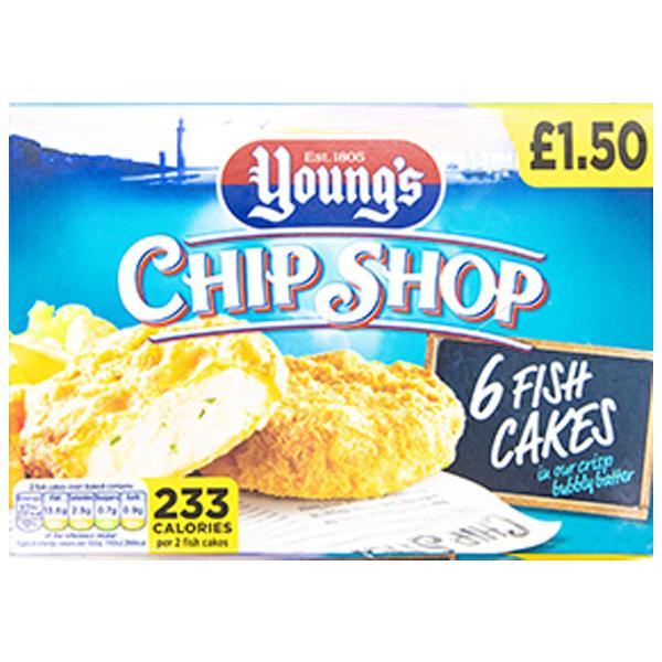 Young's Chip Shop 6 Fish Cakes - SaveCo Online Ltd